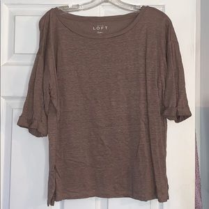 LOFT 100% Linen 3/4 Sleeve Shirt